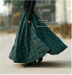 Discount Long Maxi Plaid Skirt   2017 Long Maxi Plaid Skirt on ...