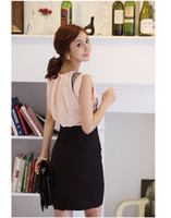 Wholesale High Waist Fitted Business Skirts - Wholesale-Free Shipping OL Womens Fitted Business Knee Long Slimming High Waist Office Pencil Skirt S M L XL wholesale Free shipping #XP