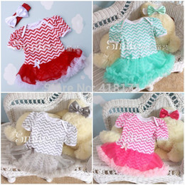 Wholesale Baby Girl Jumpsuit Summer - Wholesale-Newborn Baby Rompers Tutu Dress Summer Cotton Infant Girl Jumpsuits Clothing Short Sleeve Baby Overalls,Wave Baby Dress