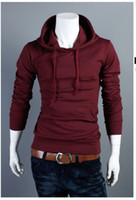 Wholesale Top Stylish Man Coats - Wholesale-Mens Fashion Casual Coats Top Hoodie Long Sleeve Man Leisure Stylish New M L XL XXL 8972