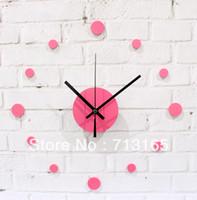 Wholesale Wall Clock Dots - Wholesale-free shipping Brief fashion diy clock diy combination dot wall clock acrylic mute