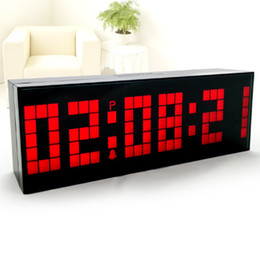 Wholesale Large Number Digital Clock - Wholesale-Chihai Large Number LED Digital Wall Alarm Clock , Countdown Temperature Calendar BackLight Despertador Free Shipping