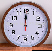 Wholesale Cheap Desktop Clocks - Wholesale-M19 cheap price for usual wall clock made of plastic materails desktop wall clocks modern design