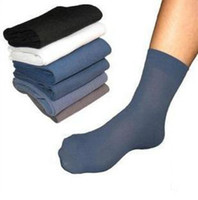 calcetines delgados masculinos al por mayor-Calcetines al por mayor-Mens 2015 Calcetines respirables masculinos ultrafinos de la venta caliente para el verano 10 pares / porción calcetines de fibra de bambú respirables frescos, NWM021