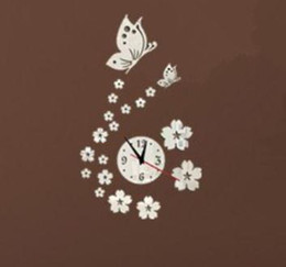 Wholesale Love Wall Watches - Wholesale-2015 new real special offer top fashion watch wall clock diy love digital 3d home decoration living room stickers quartz Acrylic