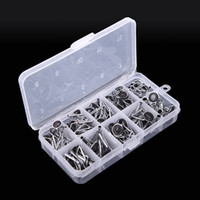 Wholesale guide tips - Wholesale-SALE! 80Pcs Stainless Steel Sea Fly Fishing Rod Guide Tip Repair Kit Set DIY Eye Rings Different Size Frames with Box