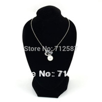 Wholesale-Black Mannequin Necklace Jewelry Pendentif Display Stand Holder Show Décorer Livraison gratuite 9010