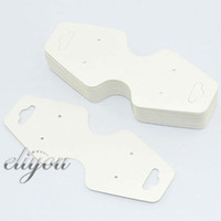 Wholesale Earring Pendant Display Cards - Wholesale-Free Shipping 100pcs lot Wholesale White Necklace Pendant Bracelet Earrings Fold Jewelry Packaging Display Cards 106x45mm DC57