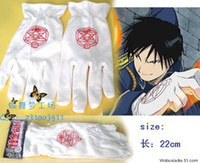All'ingrosso-Fullmetal Alchemist Edward Elric colonnello Roy Mustang guanti costume cosplay
