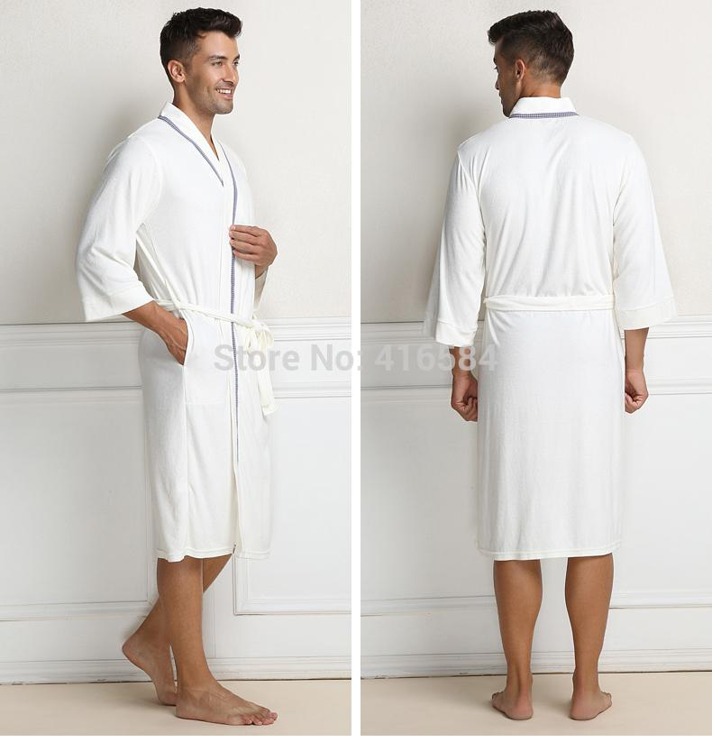 Wholesale-Men\'s Bathrobes Terry Bathrobe Cotton Towel Pile Loop ...