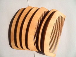 Wholesale Natural Hair Dry - Wholesale-OEM Traditional Natural Cherry Comb Customized Wooden Comb Beard Promotional Comb Man It Can Be Engraved Your