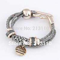 ingrosso braccialetto disponibile-All'ingrosso-2015 Fashion Vintage corda gioielli braccialetto affascinante per le donne 8 colori disponibili gioielli moda affascinante braccialetto per le donne