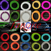 Wholesale Holiday Decals - Wholesale-10 Color 3M Car decorative Led thread sticker indoor decals tags Holiday accessory Flexible Neon Light EL Wire Rope Tube car 12V