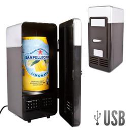 Al por mayor-Nuevo Mini USB LED PC Escritorio Gamer Refrigerador Refrigerador Bebida Bebidas Latas Más frío Calentador desde fabricantes