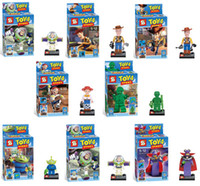 Wholesale Enlighten Building Bricks Blocks Toy Story OF TFRROR Woody Buzz Lightyear Jessie action mini figures children Bricks toys