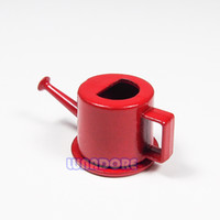 Unisex outdoor doll house - Garden Watering Can Metal Red Garden Tools Outdoor Miniatury Doll House Toy For Re ment Orcara
