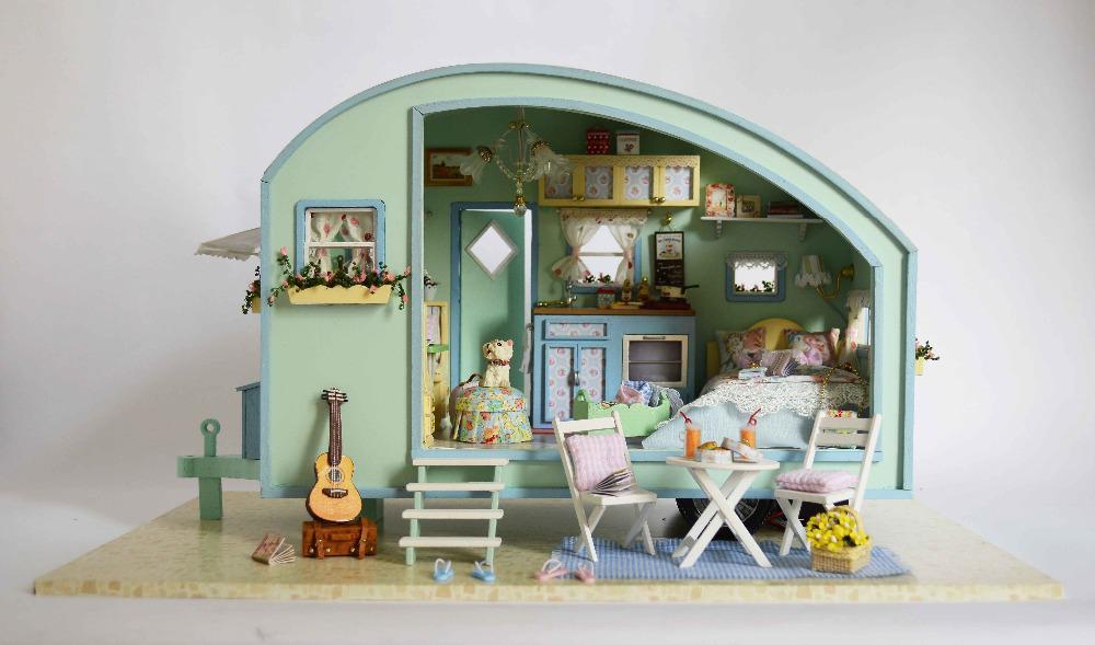 Mobili Per Casa Delle Bambole Fai Da Te : Acquista bambole allingrosso fai da te in legno casa di bambola