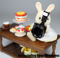 Wholesale-Digital Camera Lens Black Metal 1:12 Dollhouse miniatura per rement Orcara regalo in miniatura Giocattoli Accessori delle bambole Miniatures 1/12