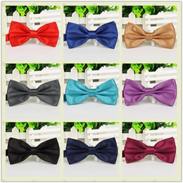 Wedding Cravat Ties Canada - Wholesale-2015 Gentleman Wedding Party Tuxedo Marriage Butterfly Cravat New Men Bright Color Bow Tie Adjustable Business Bowties For Gifts