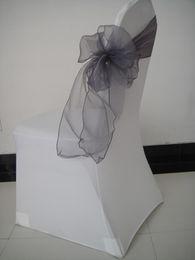 $enCountryForm.capitalKeyWord NZ - DARK SILVER 8''*108'' organza chair sash for wedding,party,hotel use 100pcs wholesale price with free shipping