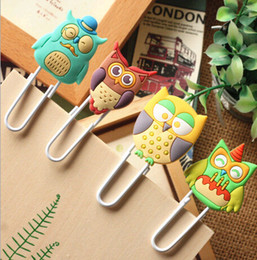 Wholesale Diy Paper Clip - Wholesale-Cute Creative Owl Family design Metal Paper clip   DIY Multifunction Bookmark animal book mark   Wholesale & retails