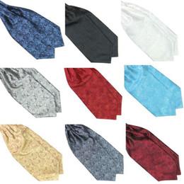 Wholesale Handmade Scarves - Wholesale-Hot Hot Ascot Tie Cravat Mens Neck Tie Satin Scarf Self Tie For Wedding
