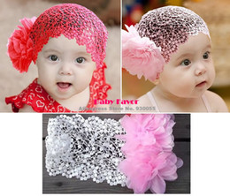 Wholesale Korean Wear Wholesale - Wholesale-Bebe Baby Girls Kids Headbands Hair Wear Accessories Tiaras Decoration Ornament Bows Flowers Korean Atacado Wholesale Lot 3 PCS