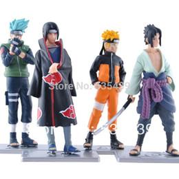 Wholesale Pcs Collections - Wholesale-2015 NEW Hot 4 PCS set Naruto 12cm kakashi itachi sasuke Anime Assortment Figures Set The 19th Generation Collection Model toy