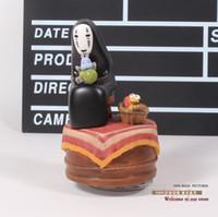 figura de batman nave libre al por mayor-Venta al por mayor-Libre Anime Cartoon Miyazaki Hayao Spirited Away Sin Cara Caja de música Acción PVC Figura Colección Muñeca de juguete 12cm MHFG018