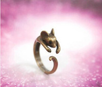 Wholesale Mouse Retro - Wholesale-new Retro hipster fashion cute little mouse ring ring female manufacturer wholesale