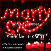 Wholesale Candle Married - Wholesale-Romantic LED Candle Roses Kits Make Your Proposal Memorable Wonderful Proposing Gifts ~ Marry Me ~ Pattern E Kit