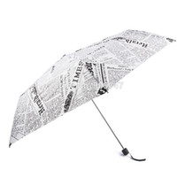 Wholesale Newspaper Pencils - Wholesale-Sun Rain Parasols Umbrella Novelty Items Pencil White Pink Newspaper Umbrellas For Women Men Free Shipping