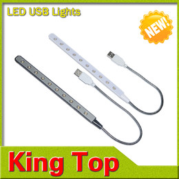 Wholesale-New arrival 10leds USB book lights videly used in power bank /computer /Notebook /PC Laptop night lamps lighting with CE ROHS