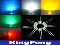Wholesale 5mm led kit - Wholesale-Free Shipping 5Values 5000pcs Withe  Blue  Green  Yellow  Red 5mm Straw Hat Ultra Bright LED Diode kit