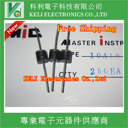 Wholesale Rectifier Diodes - Wholesale-Free Shipping 100PCS LOT 10A10 1000V 10A R-6 Axial Rectifier Diode 100% WARRANTY NEW ORIGINAL