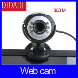Wholesale M LED PC Camera USB HD Webcam Camera Web Cam with MIC for Computer PC Laptop Round