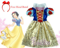 Wholesale Vestidos Princesa Infantil - Wholesale-Snow white Dress kids infant party dress girls costume child vestidos infantil de festa meninas Blancanieve fantasia de princesa