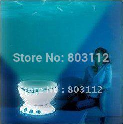 Wholesale Dropshipping Projector - Wholesale-Free shipping ocean pot, Led Night Light Projector Ocean Daren Waves Projector Projection Lamp With Speaker dropshipping
