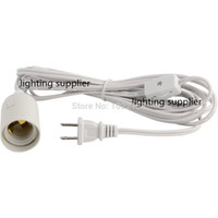 Wholesale Switch Off 12 - Wholesale-120pcs free shipping UL approved IQ lamp power cord us with on off switch and E 26 lampholder and 12 feet long cable