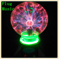 Wholesale Electric Spheres - Wholesale-Free Shipping Home Decorative Electric 5'' Music Led Night Light Novelty 5 inch Magic Plasma Ball Sphere