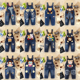 Wholesale Bib Overalls For Boys - Wholesale-Baby Overalls Children Winter Jeans For Girls & Boys Kids Bib Pants Overall Boy Toddler Clothing Jardineira Jeans Infantil