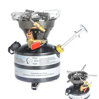 Wholesale Gasoline Power - Wholesale-Portable Outdoor Camping Oil Stove Picnic Super-Power One-Piece Gasoline Stove Cooker Burner for Outdoor Sports