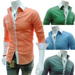 Wholesale Mens Blouse Shirts - Wholesale-Free Shipping Newest 2015 Italian Mens Dress Shirts Men's Blouses Long Sleeves Shirt Slim Business Casual Blouse blusa