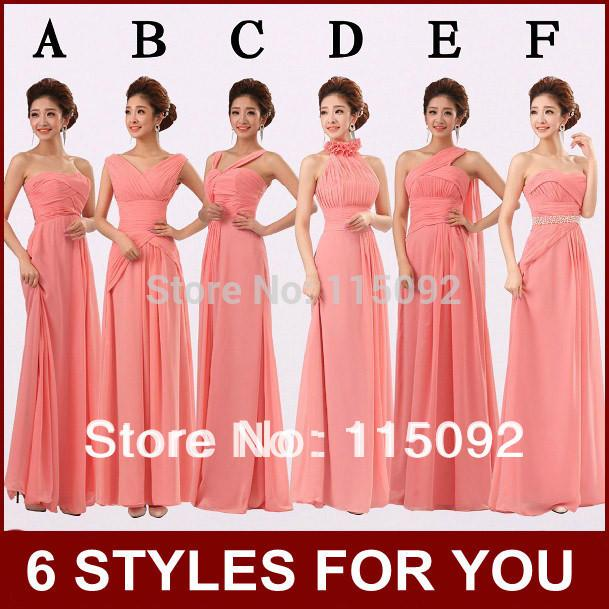 Wholesale-mix Different Styles Watermelon Coral Colored Formal Dress ...