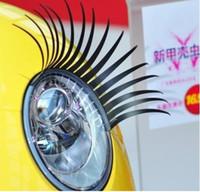 Wholesale Automotive Eyelashes - 10pcs Eyelash car logo sticker Automotive super Valentine's gift   3D Eyelash Auto Parts   5pairs