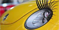 Wholesale Automotive Eyelashes - ChinaPost Air 2pcs Eyelash car logo sticker Automotive super Valentine's gift   3D Eyelash Auto Part