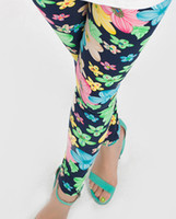 Wholesale Colorful Leggings For Kids - Wholesale-New 2015 Children pants clothing milk silk extreme skin-friendly colorful flower kids pants leggings for girls 5 colors 10 sizes