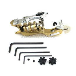 Wholesale Cast Iron Tattoo Machine Frames - Wholesale-smtm10128245 dropshipping alloy frame Rotary tattoo machine.1pc box,free shipping tattoo machine power supply