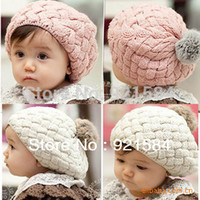 Wholesale Photo Prop Fur - Wholesale-baby hat kids baby photo props beanie,faux rabbit fur gorros bebes crochet beanie toddler cap for 4 months-3 years old girl,CTL