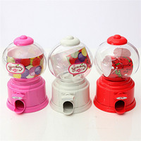 Wholesale gumballs machine - Wholesale-Hot Sale Mini Cute Gumball Vending Candy Machine Dispenser Coin Saving Bank Money Box Decorative Gift For Kids
